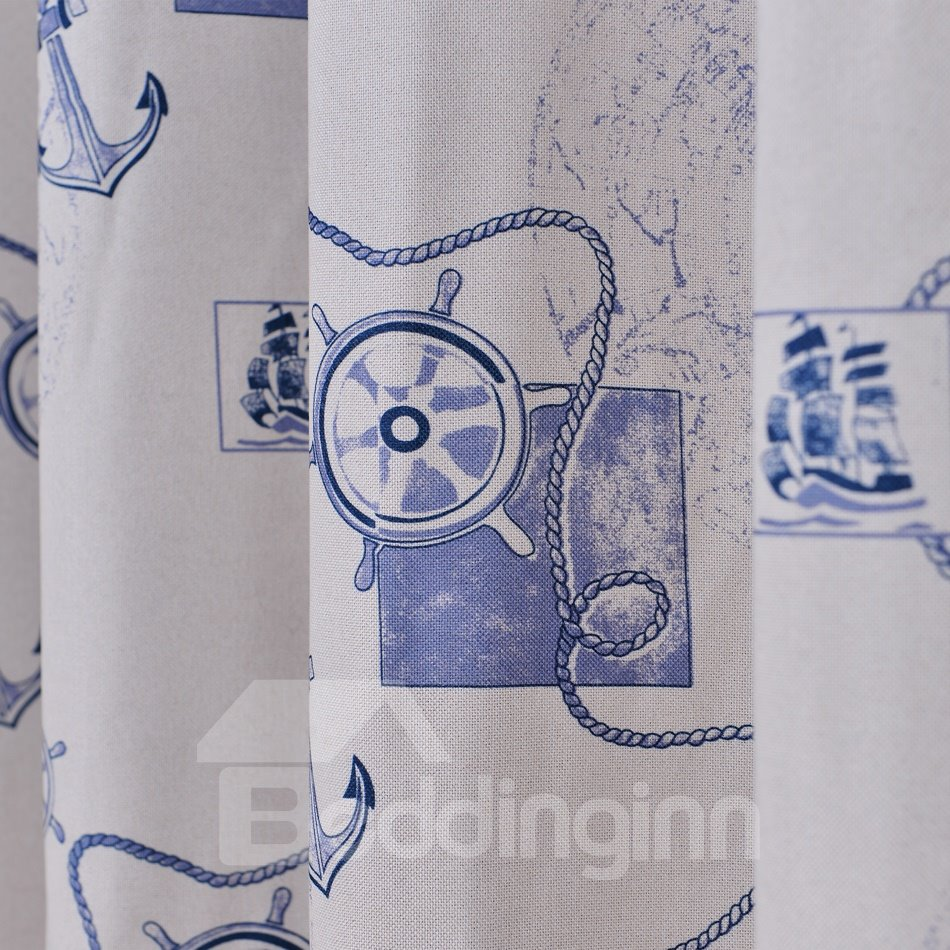 High Quality Blue Classic Design Thermal Insulation Custom Made Curtains
