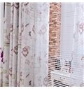 Graceful Multi-Element Pattern Linen Blackout Custom Curtain