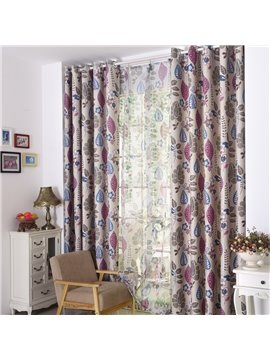 Thickening Linen Blackout Custom Made Curtain