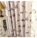 Hot Selling Modest Floral Pattern Printing Grommet Top Curtain