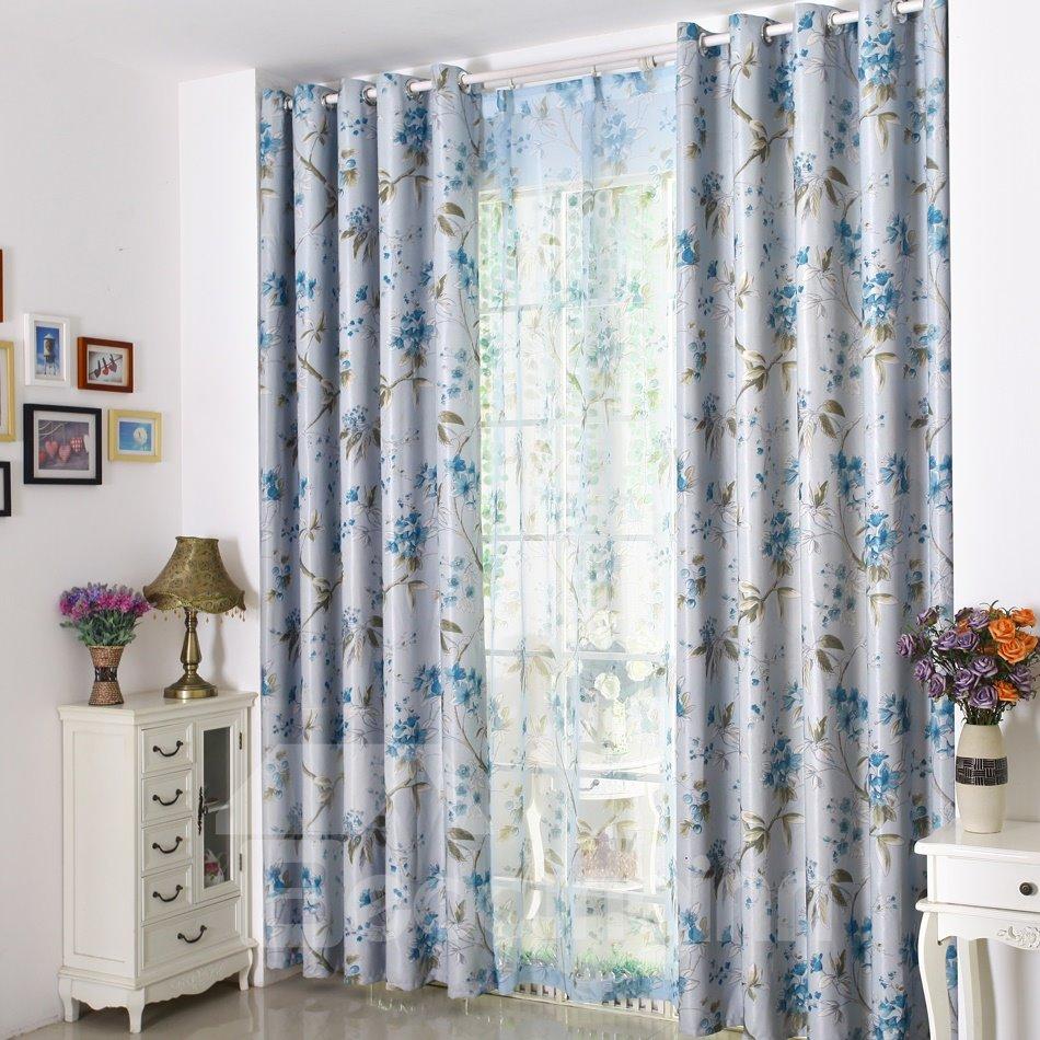 Custom made linen modern floral striped room windows half price caf
