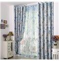 Fabulous Floral Printing Linen Custom Grommet Top Curtain