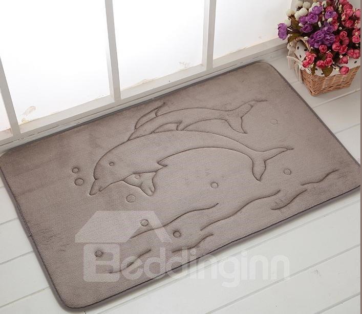High Quality Coral Fleece 3D Dolphins Doormat