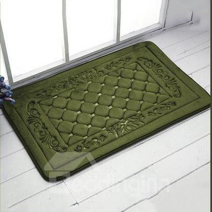 High Quality Coral Fleece 3D Grid Doormat