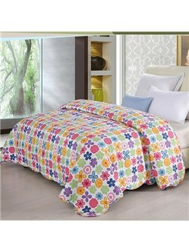Super Comfortable Kinds of Flowers Arranged Close Pattern Quilt