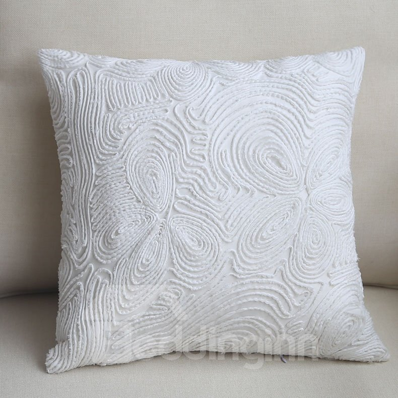 Luxury Decorative Bed Pillows : Luxury Hand Made European Style Pure White Throw Pillow - beddinginn.com