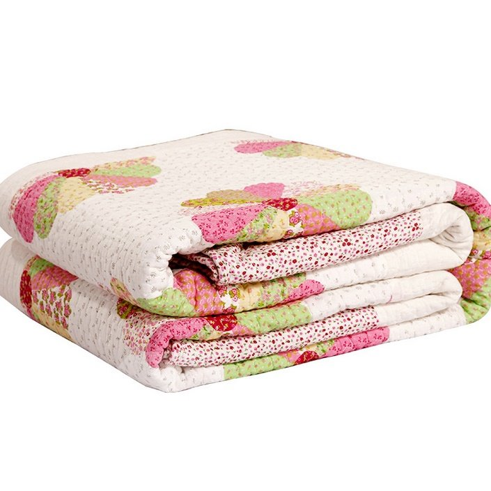 Rainbow Color Round Clump Flowers Pattern Bed in a Bag Set
