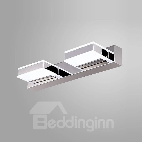 Simple Style Electroplated Finish Wonderful 2-Heads LED Wall Light