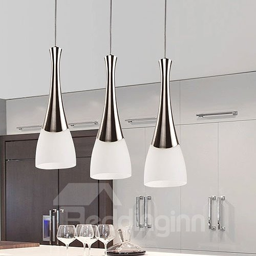 Amazing Electroplated Finish 3-Heads LED Pendant Lights
