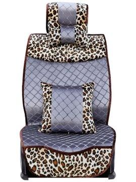 Fashion Super Warm Leopard Pattern Car Seat Cover