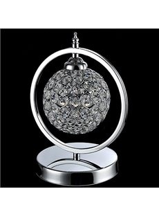 Beautiful Design Stainless Steel and Crystal Lamp