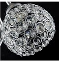 Contemporary Beautiful Stainless and Crystal 2-Heads Wall Lights