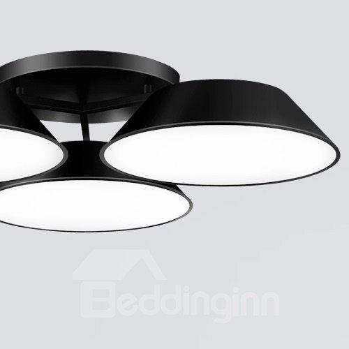 Unique Design Black Alloy 3 Heads Electroplated Flush Mount