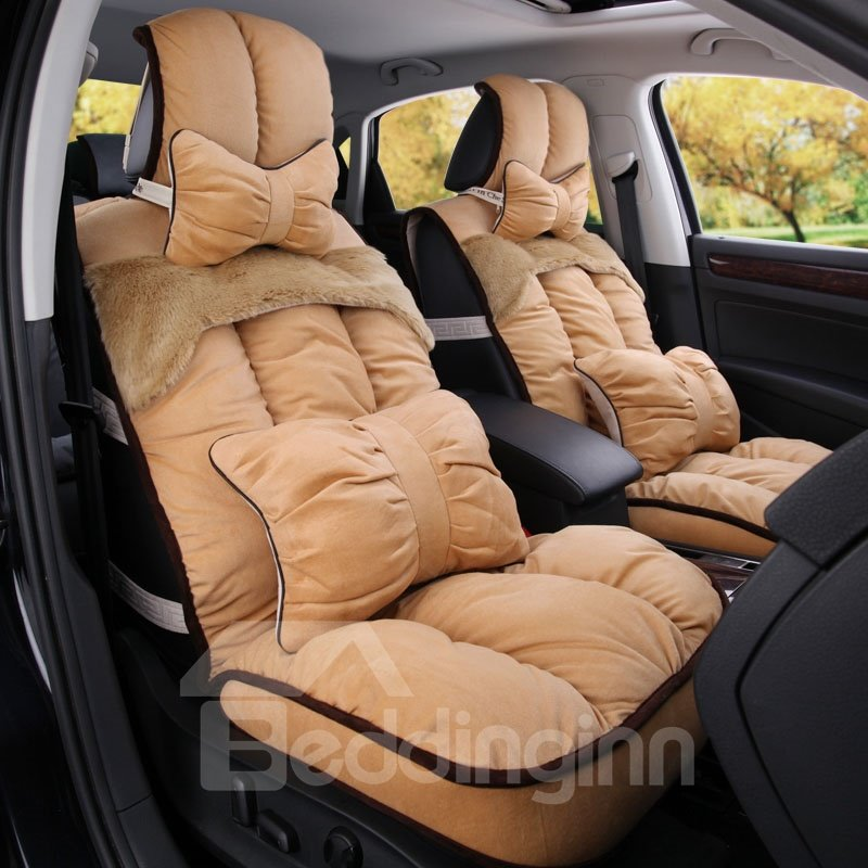 super warm and comfortable patch short plush material car seat cover. Black Bedroom Furniture Sets. Home Design Ideas