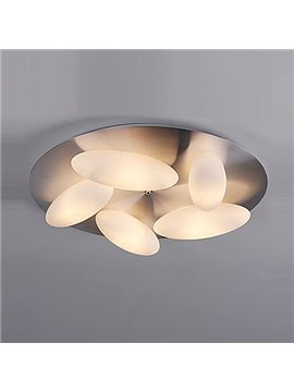 Classic Design Pretty 5-Heads Oval Shape Flush Mount