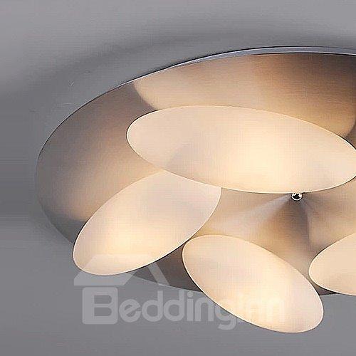 Classic Design Pretty 5-Heads Oval Shape Flush Mount