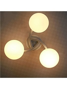 Graceful Pretty Gorgeous 3-piece Round Ball Shape Flush Mount