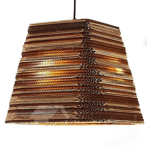 Wonderful Alloy and Paper Trapezoid Shape Pendant Light