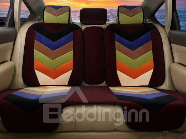Excellent Combination of Bright Color Pattern Wool Car Seat Cover
