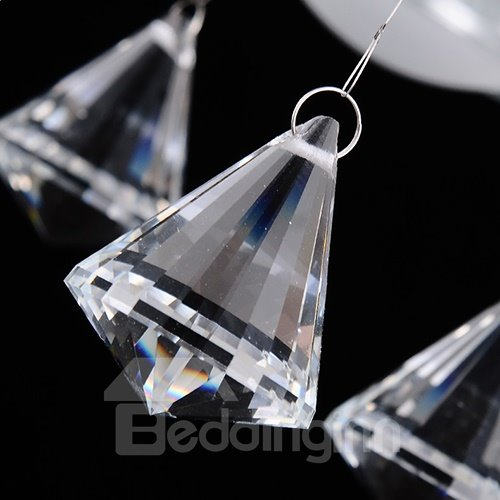 Beautiful 4-Heads Alloy and Crystal Pendant Lights