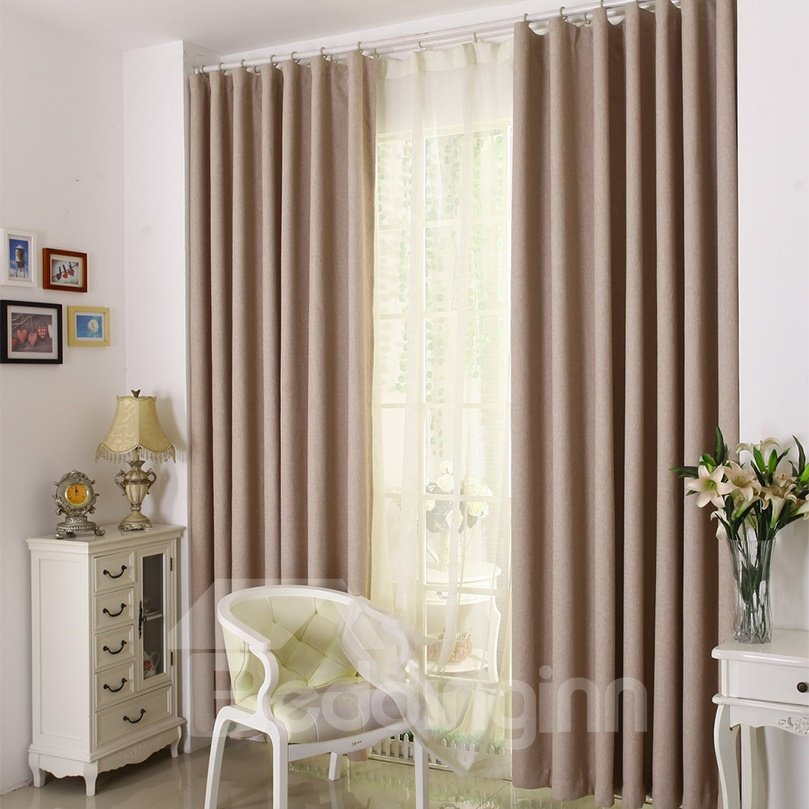 Contemporary Noise Reducing Blackout Custom Curtain