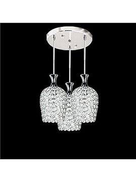 Beautiful Romantic Alloy and Crystal Pendant Lights