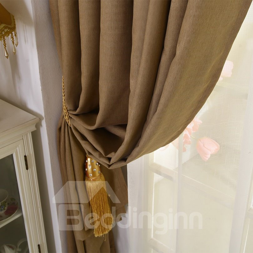 Hot Selling Noise Reducing Coffee Color Blackout Curtain