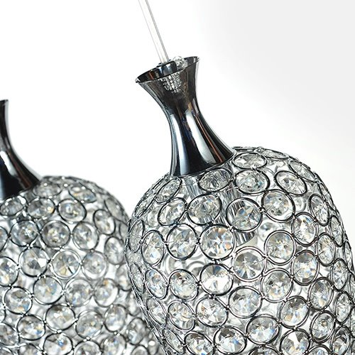 Romantic 6-Heads Alloy and Crystal Pendant Lights