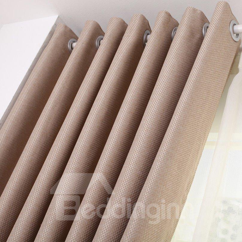 Top Quality Elegant Simple Color Scheme Custom Made Curtain