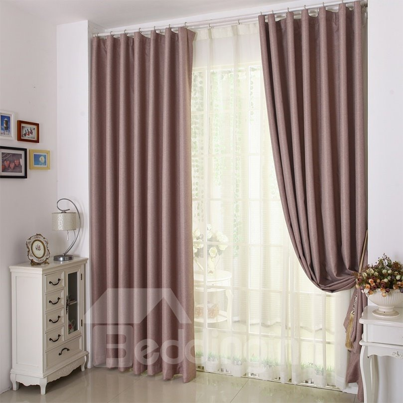 New Concise Style  Practical Light Insulation Grommet Top Curtain