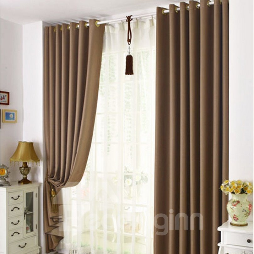 Modest Home Fashion  Functional Blackout Grommet Top Curtain