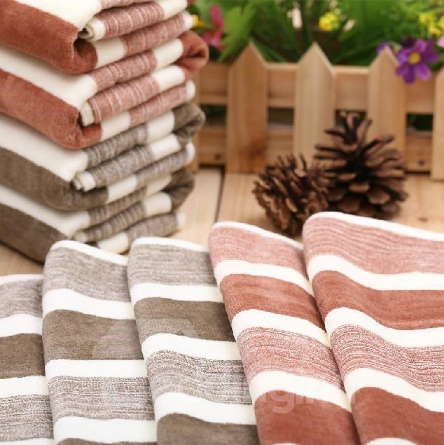 Modern Fashion Stripe Pattern Full Cotton Towel
