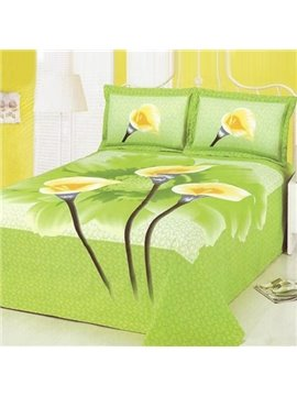 Fresh Style Beautiful Lily Flower Pattern Printed Sheet