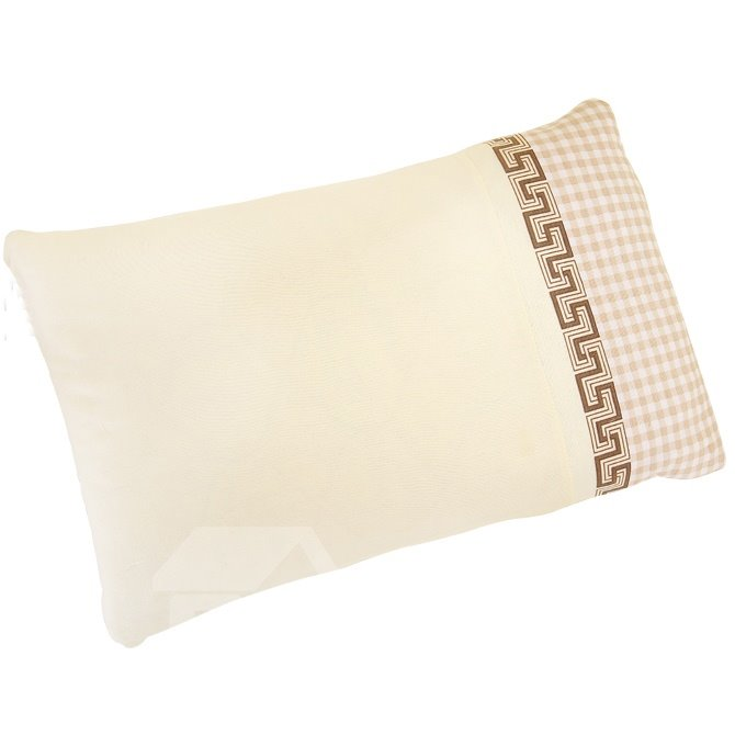 Light Yellow Stripes Squares Super Soft and Comfortable Baby Pillow