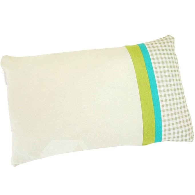 Bright Color Stripe Buckwheat Shell Filling Beige Baby Pillow