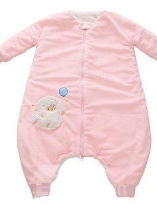 Beautiful High Quality Pink Short Plush Baby Sleeping Bag