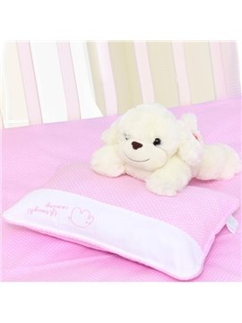 Cute Elephant Painting White Dots Pink Baby Pillow