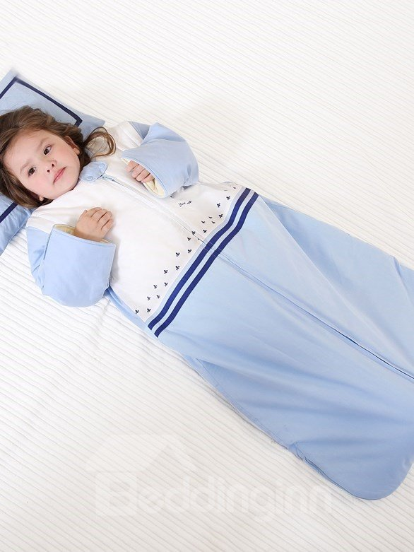Thicken Style Combination of Blue and White Soft Baby Sleeping Bag