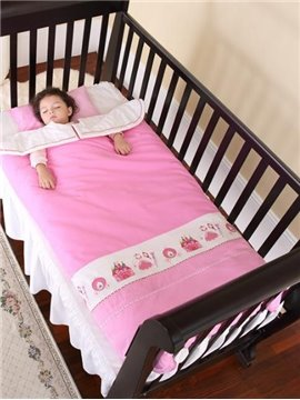Princess Style Romantic Pink Clothes and Castle Painting Baby Sleeping Bag
