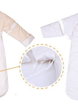 Super Soft Thicken Stripe Pattern Natural Colored Cotton Baby Sleeping Bag