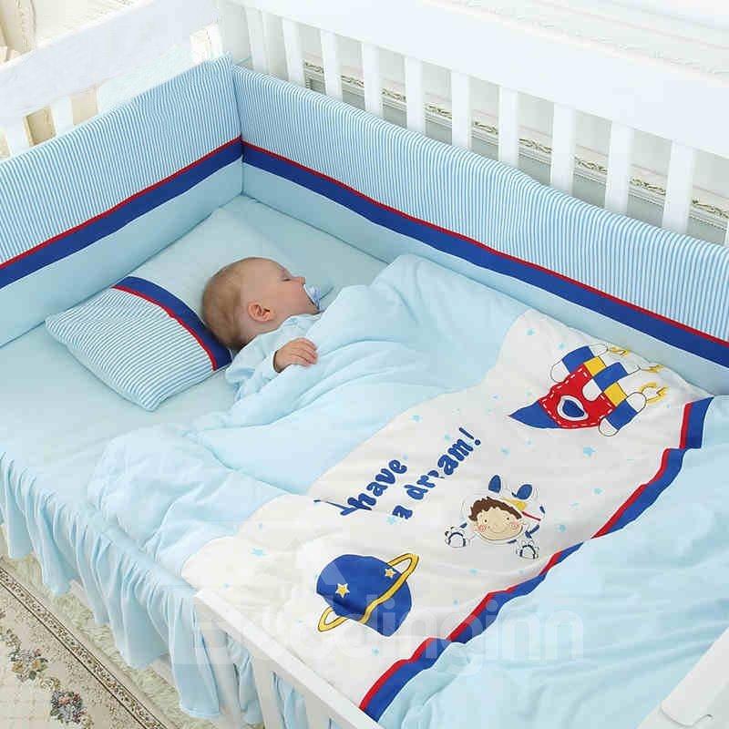 Baby Astronaut Travel the Space Dream Crib Bedding Set ...