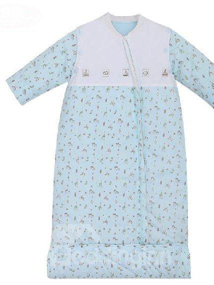 Wonderful Detachable Sleeves Blue Baby Sleeping Bag