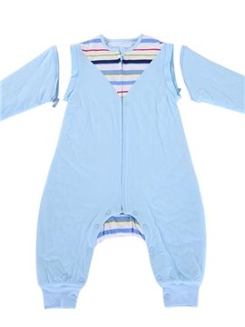 Long Sleeve Style Bright Color Stripes Baby Sleeping Bag