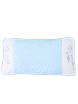 Long Style Buckwheat Hull Fillings Blue Baby Pillow