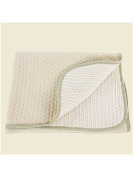 Hot Selling Super Smooth 100% Organic Cotton Baby Blanket