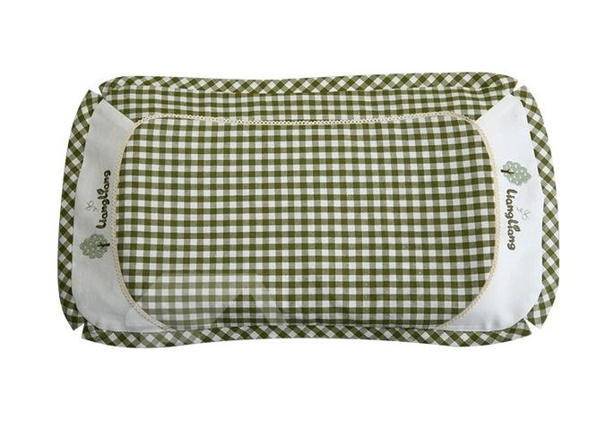 New Arrival Ramie and Cotton Green Baby Pillow