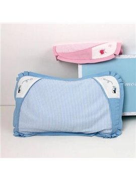 New Classic Wonderful Ramie and Cotton Blue Baby Care Pillow