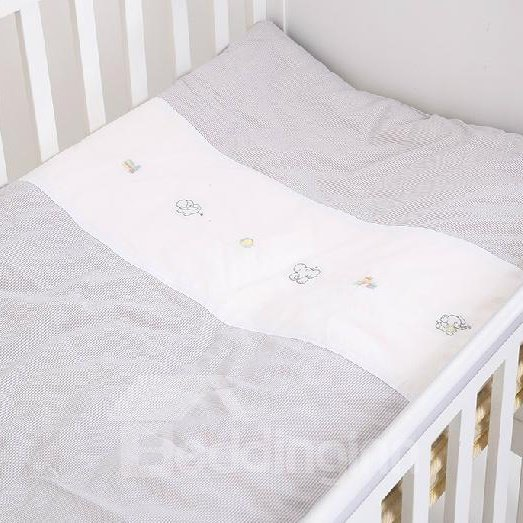 Classic Grey Lattice Soft and Comfortable Baby Quilts