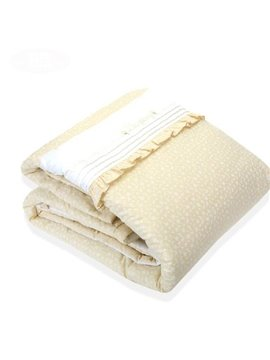 Wonderful Pretty Cotton Beige Comfortable Baby Quilts
