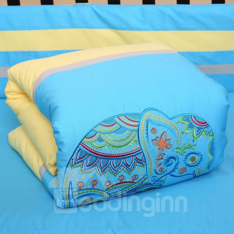 The Painting Color Combination For Baby S Bedroom: Bright Color Elephant Playing Painting Combination Yellow